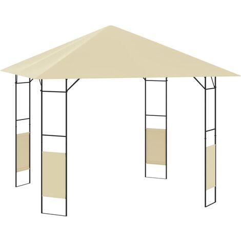 Belvédère de jardin 3x3x2,6 m Crème 160 g/m²