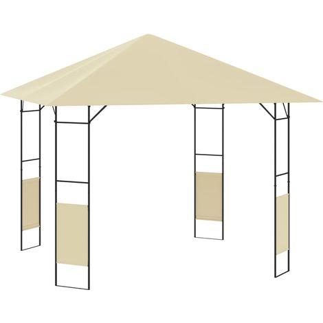 Belvedere de jardin 3x3x2,6 m Creme 160 g/m2