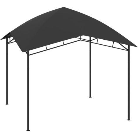 Belvédère de jardin 3x3x2,9 m Anthracite 180 g/m2