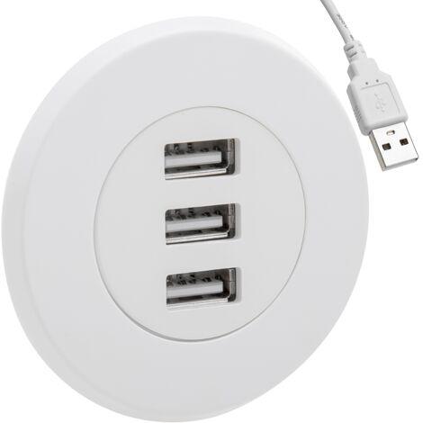 "main image of ""BeMatik - 3-port USB 2.0 hub for desktop white"""