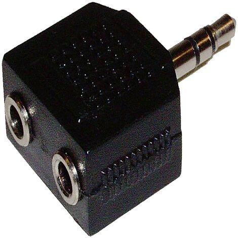 BeMatik Adaptador de Audio est/éreo duplicador minijack 3.5mm Macho a 2 minijack 3.5mm Hembra 10cm