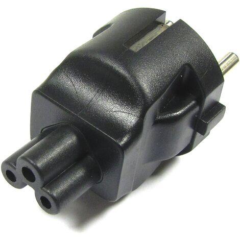 BeMatik - Adaptador de conector IEC-60320 C5 a Schuko