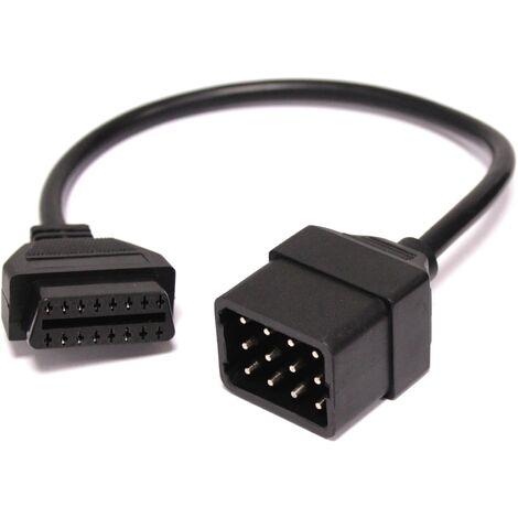 """main image of """"BeMatik - Adaptador de conector OBD II compatible con Renault 12pin"""""""