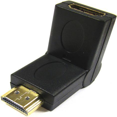BeMatik - Adaptador HDMI acodable de tipo HDMI-A macho a HDMI-A hembra