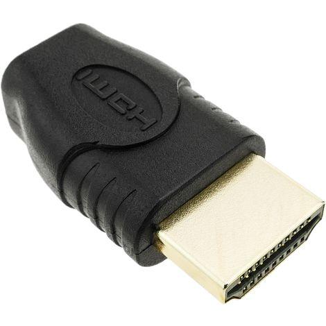 BeMatik - Adaptador HDMI de micro HDMI tipo D hembra a HDMI tipo A macho