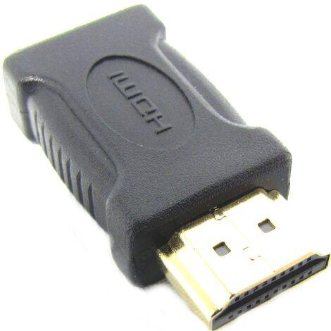 BeMatik - Adaptador HDMI de tipo HDMI-A macho a HDMI-C hembra