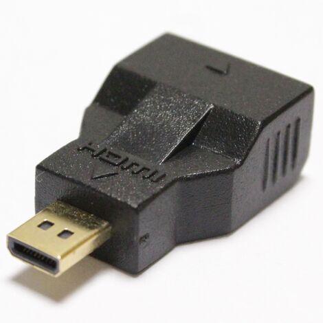 BeMatik - Adaptador HDMI de tipo HDMI-C hembra a HDMI-D macho