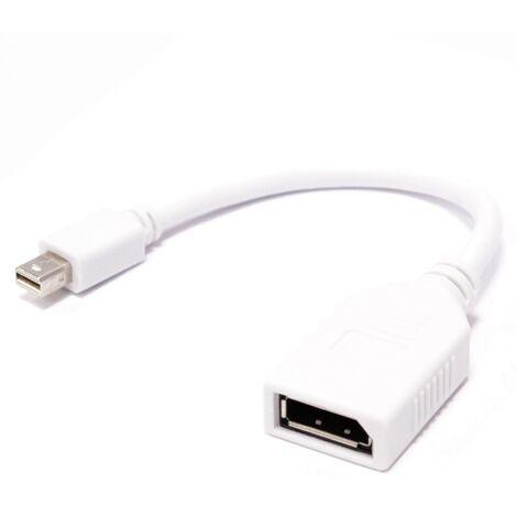 BeMatik - Adaptador miniDisplayPort-macho a DisplayPort-hembra