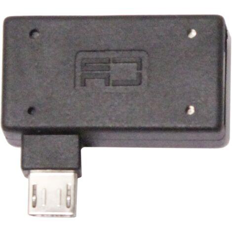BeMatik - Adaptador OTG a MicroUSB con alimentación por la derecha