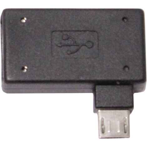 BeMatik - Adaptador OTG a MicroUSB con alimentación por la izquierda