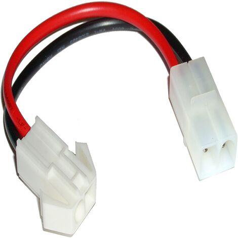 BeMatik - Adapter Cable compatible with Tamiya male to MiniTamiya male 150mm
