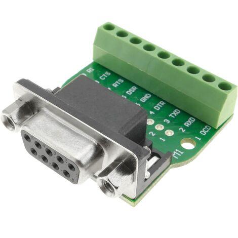 BeMatik - Adapter serial connection DB9-female to 9-pin terminal block Breakout Board