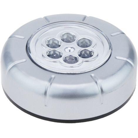 BeMatik - Adhesive portable light with 6 LED high-brightness
