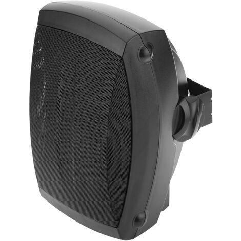 BeMatik - Altavoz de pared 40W de 350x220x210mm exterior negro orientable