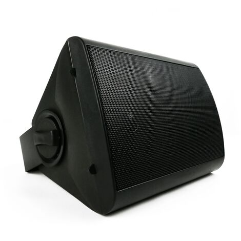 BeMatik - Altavoz de pared de 20W y 244x185x163mm negro orientable