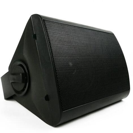 BeMatik - Altavoz de pared de 40W y 298x218x190mm negro orientable