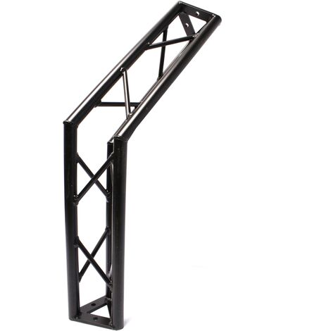 BeMatik - Aluminium noir angle de 135 degrés triangulaire ferme 150mm