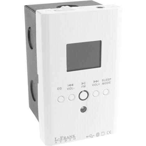 BeMatik - Amplificador de audio empotrable 15W reproductor MP3 y wav Bluetooth SD USB Radio FM