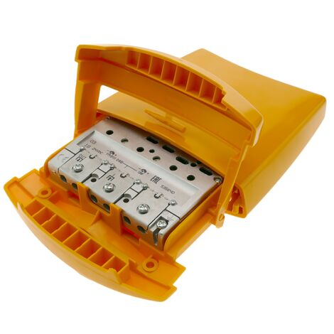 BeMatik - Amplificador de mástil de antena TV 1e 1s FM BIII DAB UHF modelo Televes 535640