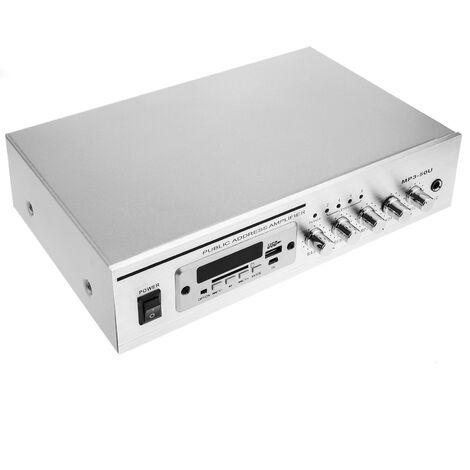 BeMatik - Amplificador para sonorización profesional de 40W 110V 1 zona con MIC AUX FM MP3