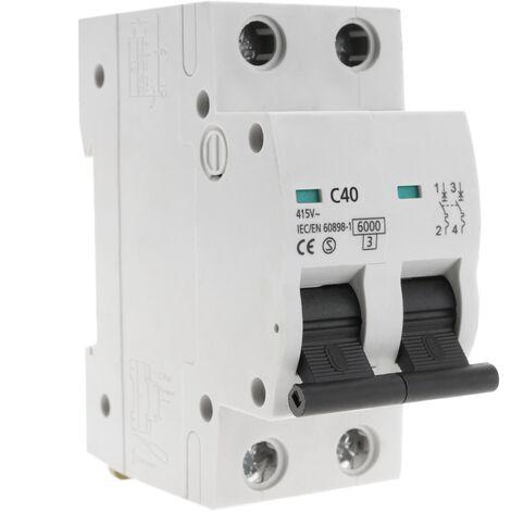 """main image of """"BeMatik - Automatic circuit breaker 2P 40A 6kA"""""""