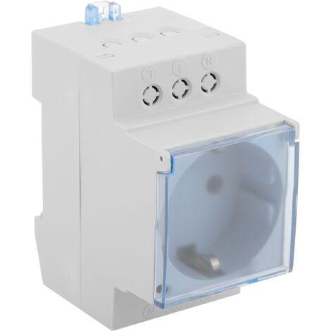 BeMatik - Base de enchufe schuko modular 16A para carril DIN