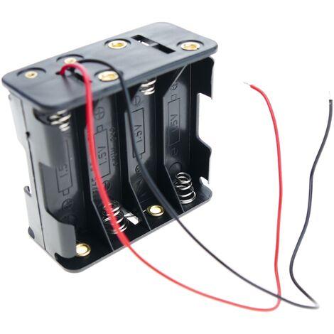 BeMatik - Battery holder for 8 AA 1.5V LR6