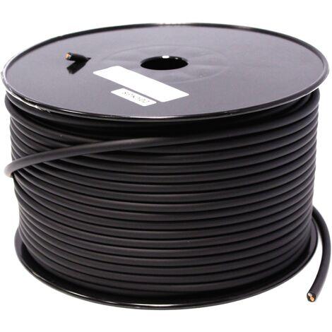 BeMatik - Bobina cable de audio altavoz 2x1.5mm 15GA 100m