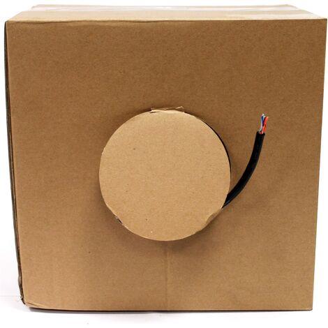 BeMatik - Bobina cable de red FTP Cat.6 23AWG para exterior rígido negro 100m