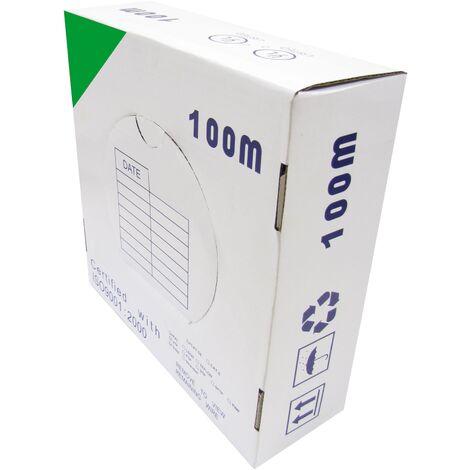 BeMatik - Bobina cable FTP categoría 5e 24AWG CCA rígido verde 100m