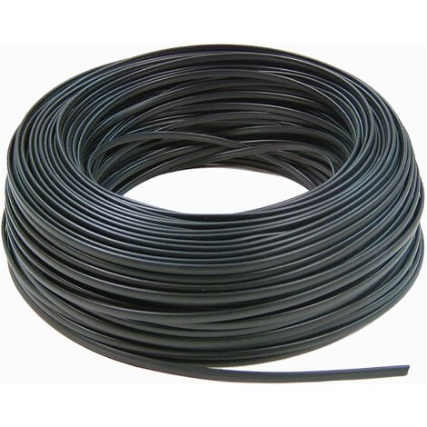 BeMatik - Bobina Cable Telefónico Flexible 4-Hilos Negro (100m)