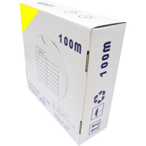 BeMatik - Bobina cable UTP categoría 5e 24AWG CCA rígido amarillo 100m