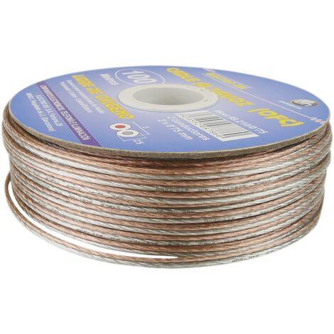 BeMatik - Bobina de cable para altavoz libre de oxígeno 0,75 mm de 100 m