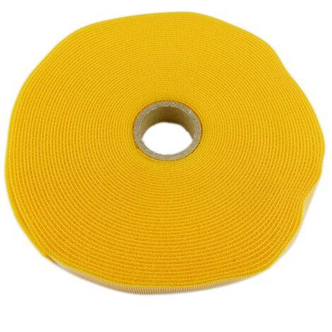 BeMatik - Bobina de cinta adherente de 15mm x 10m de color amarillo