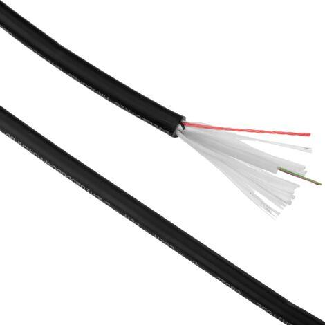 BeMatik - Bobina de fibra óptica 9/125 monomodo 4 fibras exterior de 100 m OS2