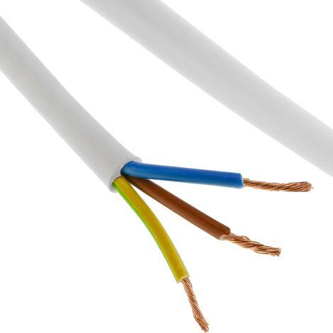 """main image of """"BeMatik - Bobine de câble électrique 50 m blanc 3x2.5 mm"""""""