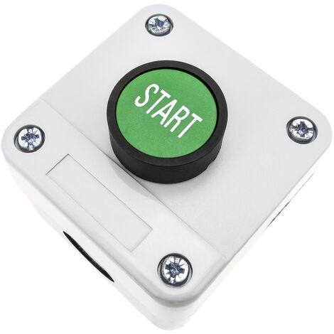 BeMatik - Boîte de commande avec 1 bouton poussoir momentanés vert 1NO bouton START