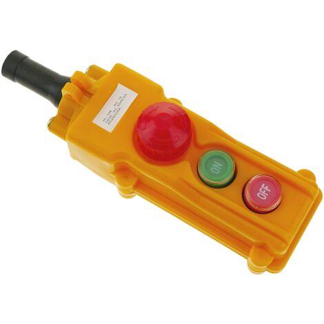 BeMatik - Boîte de commande avec 2 boutons poussoirs interrupteurs et arrêt d'urgence série COB