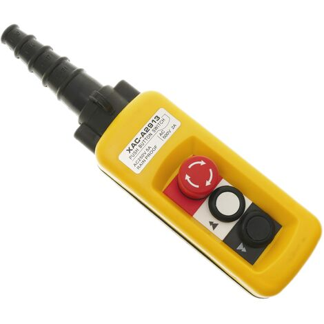 BeMatik - Boîte de commande avec 2 boutons poussoirs momentanés et arrêt d'urgence série XACA 80x64x185mm