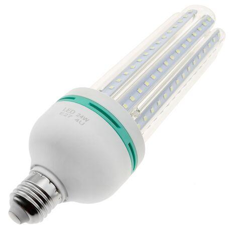 BeMatik - Bombilla de luz LED de 24W E27 luz fría día 6000K alargada