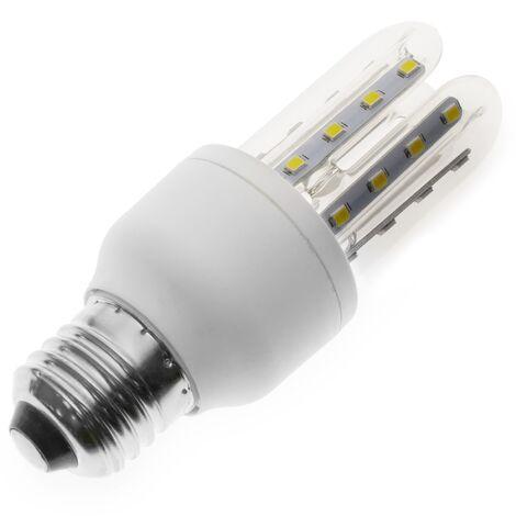 BeMatik - Bombilla de luz LED de 3W E27 luz fría día 6000K alargada
