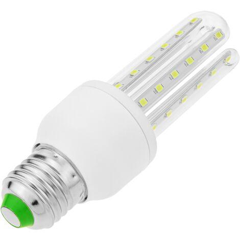 BeMatik - Bombilla de luz LED de 7W E27 luz fría día 6000K alargada