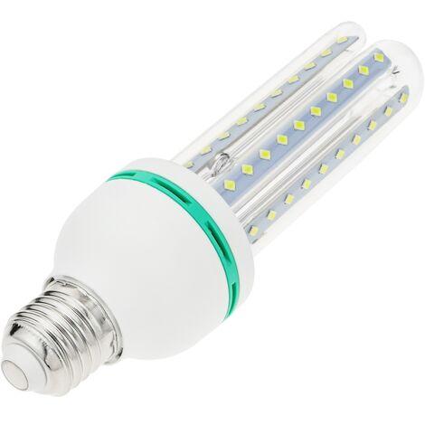 BeMatik - Bombilla de luz LED de 9W E27 luz fría día 6000K alargada