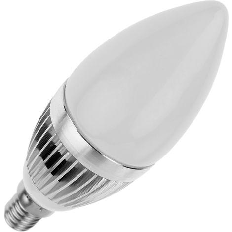 BeMatik - Bombilla LED C35 E14 230VAC 3W luz día