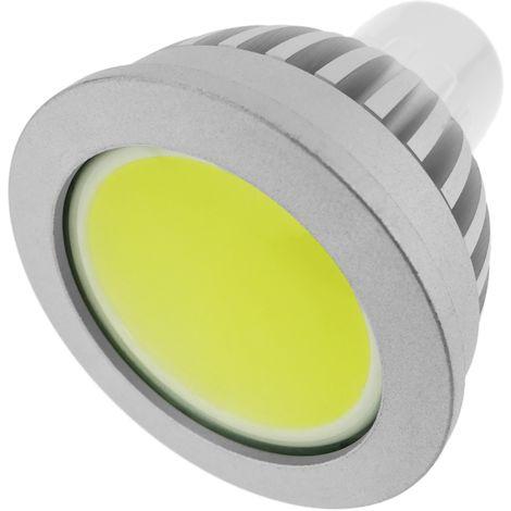 BeMatik - Bombilla LED COB GU10 230VAC 4W 90° 50mm luz cálida