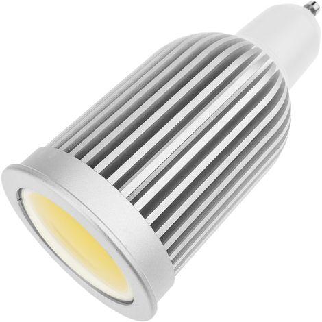 BeMatik - Bombilla LED COB GU10 230VAC 6W 90° 50mm luz cálida