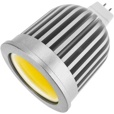 BeMatik - Bombilla LED COB MR16 12VDC 4W 50mm luz cálida
