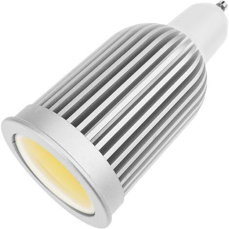 BeMatik - Bombilla LED COB MR16 12VDC 7W 50mm luz fría día con difusor