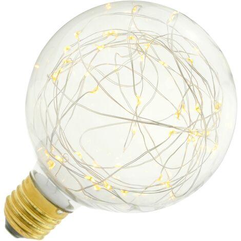 BeMatik - Bombilla LED fantasía G125 1.4W luz cálida 2200K