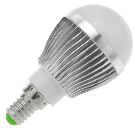 BeMatik - Bombilla LED G45 E14 230VAC 3W luz día